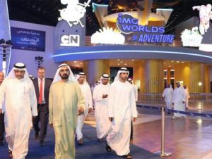 Shaikh Mohammad opens IMG Worlds of Adventure Largest indoor theme park in the world opens to the public